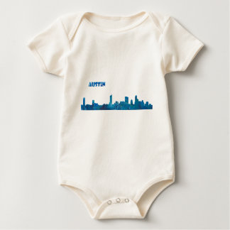Austin Skyline Silhouette Baby Bodysuit
