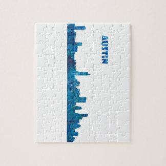 Austin Skyline Silhouette Jigsaw Puzzle