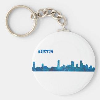Austin Skyline Silhouette Keychain