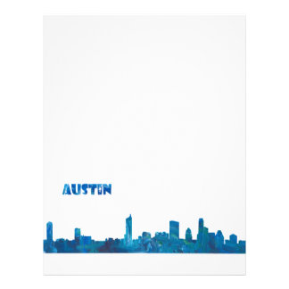 Austin Skyline Silhouette Letterhead
