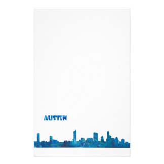 Austin Skyline Silhouette Stationery