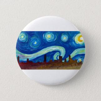 Austin Skyline Silhouette with Starry Night 2 Inch Round Button