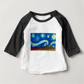 Austin Skyline Silhouette with Starry Night Baby T-Shirt