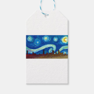 Austin Skyline Silhouette with Starry Night Gift Tags