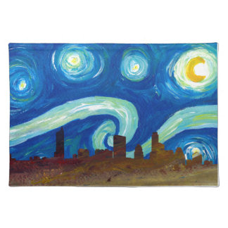 Austin Skyline Silhouette with Starry Night Placemat