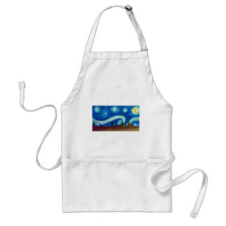 Austin Skyline Silhouette with Starry Night Standard Apron