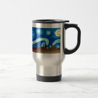 Austin Skyline Silhouette with Starry Night Travel Mug