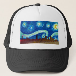 Austin Skyline Silhouette with Starry Night Trucker Hat