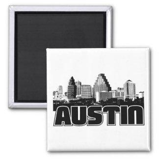Austin Skyline Square Magnet