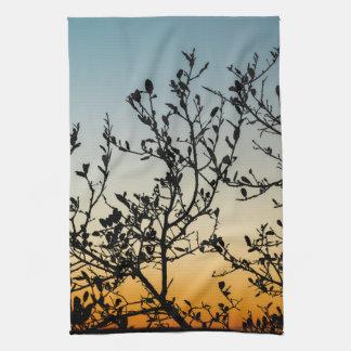 Austin Sunset in Winter Kitchen Towel