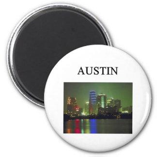 AUSTIN texas 2 Inch Round Magnet