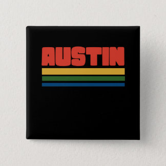 austin texas 2 inch square button