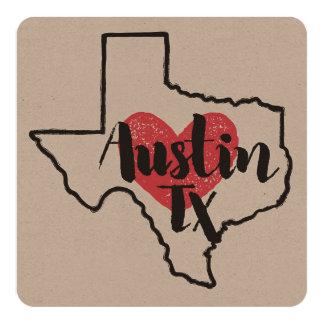 Austin Texas Card or Invitation