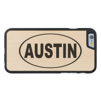 Austin Texas Carved® Maple iPhone 6 Case