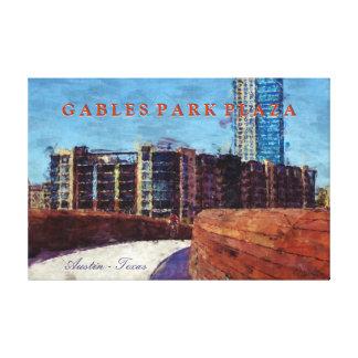 Austin, Texas City Scene by Pfluger Bridge Canvas Print