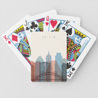 Austin, Texas | City Skyline Bicycle Playing Cards