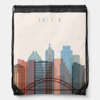 Austin, Texas | City Skyline Drawstring Bag