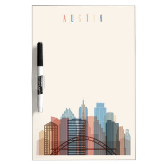 Austin, Texas | City Skyline Dry Erase Board