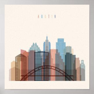 Austin, Texas | City Skyline Poster