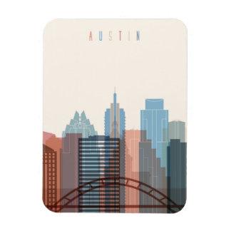Austin, Texas | City Skyline Rectangular Photo Magnet