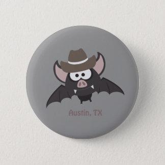 Austin, Texas - Cowboy bat 2 Inch Round Button