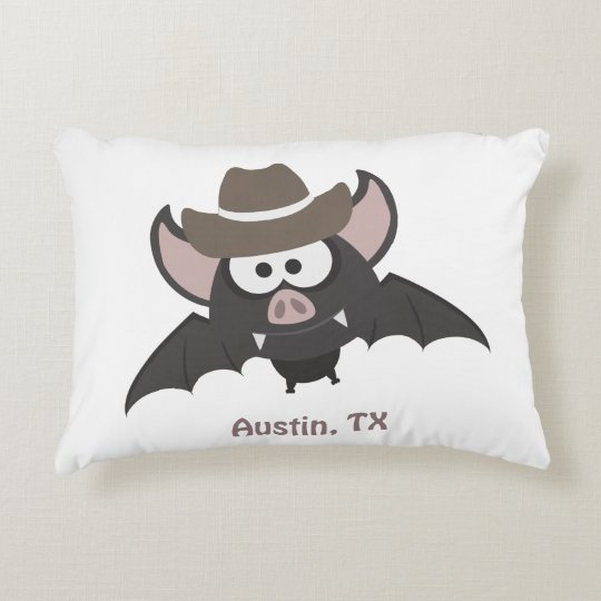Austin Texas Cowboy Bat Accent Pillow