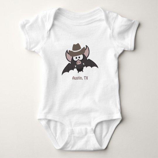 Austin Texas Cowboy Bat Baby Bodysuit