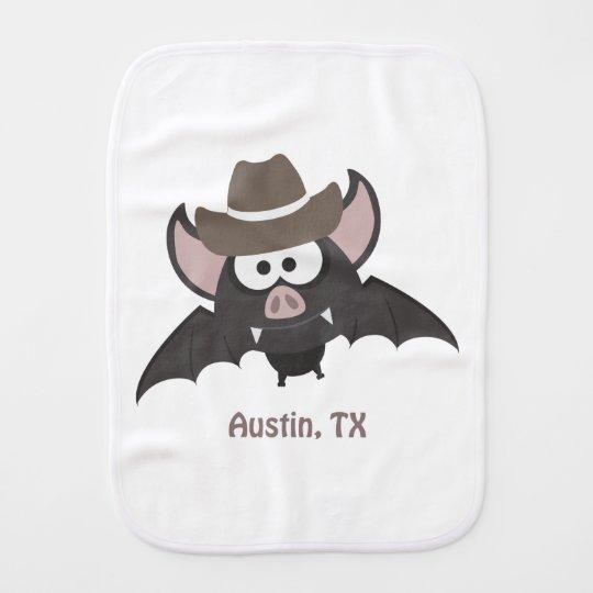 Austin Texas Cowboy Bat Burp Cloth