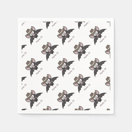 Austin Texas Cowboy Bat Disposable Napkin