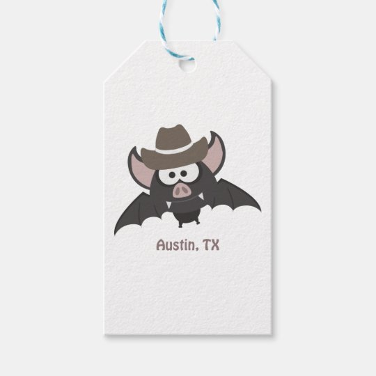 Austin Texas Cowboy Bat Gift Tags