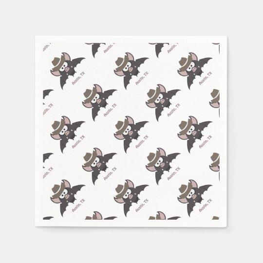 Austin Texas Cowboy Bat Napkin