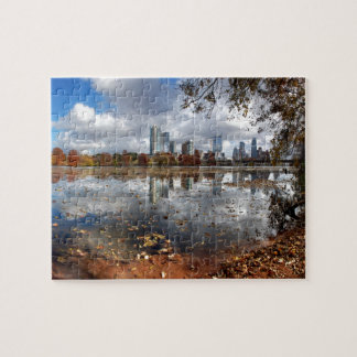 Austin Texas Downtown Skyline from Ladybird Lake Jigsaw Puzzle