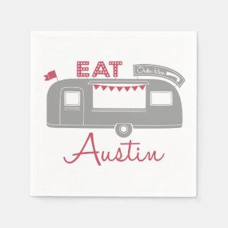 Austin Texas Food Truck Party Napkins Disposable Napkin
