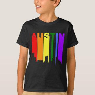 Austin Texas Gay Pride Rainbow Skyline T-Shirt