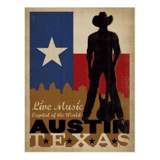 Austin, Texas | Live Music Cowboy Postcard