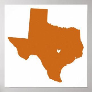 Austin, Texas Love Poster
