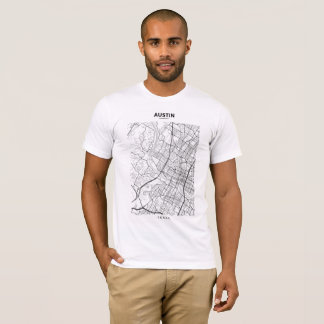 Austin - Texas Map T-Shirt