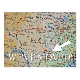 Austin, Texas New Address announcement Postcard