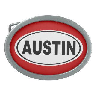 Austin Texas Oval Belt Buckles