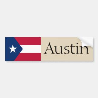 Austin, Texas proposed flag bumper sticker