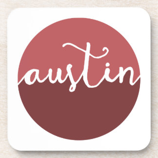 Austin, Texas | Rust Ombre Circle Drink Coasters