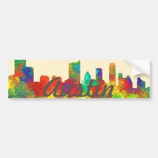 Austin Texas Skyline-SG Bumper Sticker