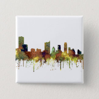 Austin Texas Skyline SG-Safari Buff 2 Inch Square Button
