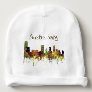 Austin Texas Skyline SG-Safari Buff Baby Beanie