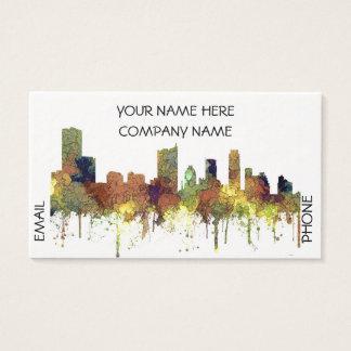 Austin Texas Skyline SG-Safari Buff Business Card