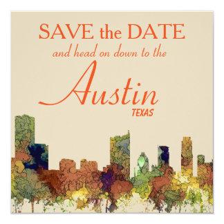 Austin Texas Skyline SG-Safari Buff Card