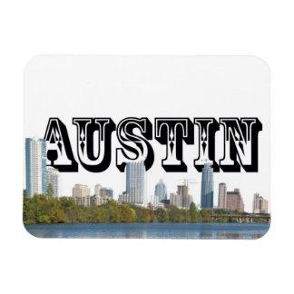 Austin Texas Skyline w/ Austin in the Sky Rectangular Photo Magnet