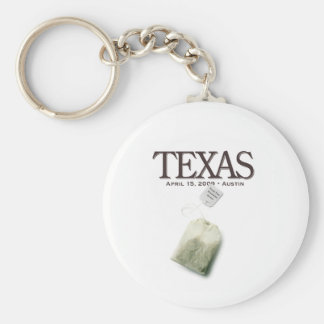 Austin Texas Tea Party Keychain