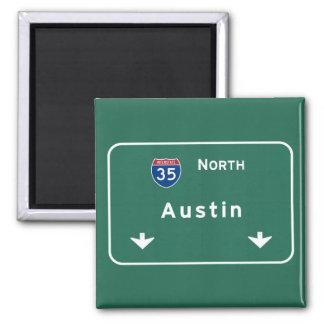 Austin Texas tx Interstate Highway Freeway Road : Square Magnet