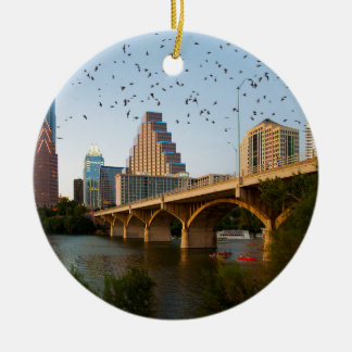 Austin, Texas with Bats Ceramic Ornament